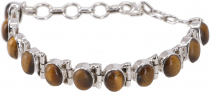 Indian Boho Silver Bracelet - Tiger Eye