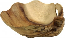 Small carved wooden bowl, fruit bowl turtle