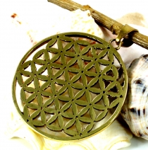 Indian `flower of life` amulet, talisman medallion - Model 2