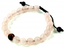 Mala Bracelet Rose Quartz, Handmala - Model 18
