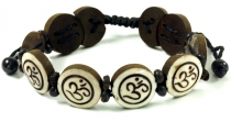 Buddhist bracelet OM - white model 6