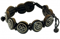 Buddhist bracelet OM - brown model 8