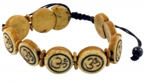 Buddhist bracelet OM - brown model 9