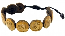 Buddhist Bracelet Mantra - brown model 10