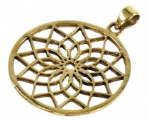 Indian `flower of life` amulet, talisman medallion - Model 3