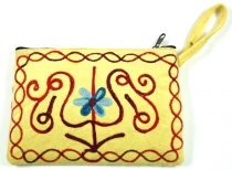 Embroidered cashmere wallet - 2