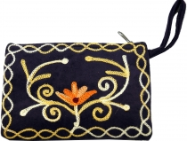 Embroidered cashmere wallet - 4