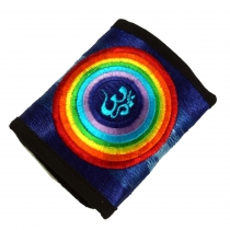 embroidered wallet - rainbow OM