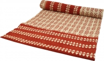 Blockprint bedspread, bedspread sofa throw, handmade hanging, red..