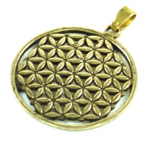 Indian `flower of life` amulet, talisman medallion - Model 1