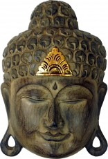 Buddha mask with gold decoration, wall decoration, ethno wall dec..