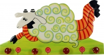 Colourful children`s wardrobe wall hook - Sheep 2