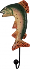 Colourful wooden coat hook, wall hook, coat hook - Fish