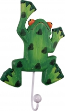 Colourful wooden coat hook, wall hook, coat hook - Frog 1
