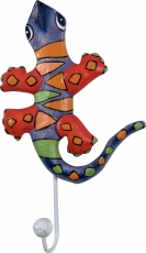 Colourful wooden coat hook, wall hook, coat hook - Gecko 2