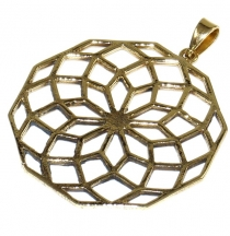 Indian `flower of life` amulet, talisman medallion - Model 4