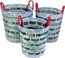 Exotic basket in 3 sizes - blue/green