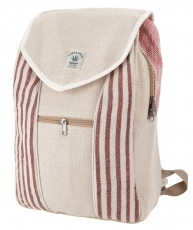 Ethno hemp backpack - striped nature/brown