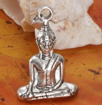 Buddha pendant made of brass - silver
