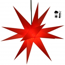 Sturdy weatherproof 3D poinsettia, outdoor star, plug-in star for..