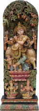 Antique wood sculpture XXL, wall decoration - Krishna