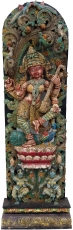 Antique wood sculpture XXL, wall decoration - Sitar