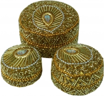 Indian jewelry box, pearl box, jewelry box Set of 3 in 6 colors