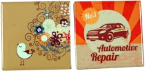Set of 2 refrigerator magnet - retro 2