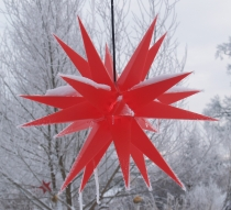 LED Melchior Outdoor II Red, 3D outdoor star Ø 60 cm, with 20 tip..