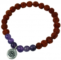 Mala Bracelet, Handmala with pendant `Flower of Life` - Model 6