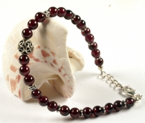 Mala bracelet and necklace with genuine silver beads - Garnet