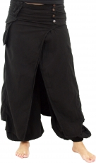 Muck trousers, harem pants Fancy - black