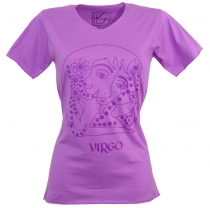 star sign T-Shirt `Virgin` - purple