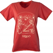 star sign T-Shirt `Virgin` - orange