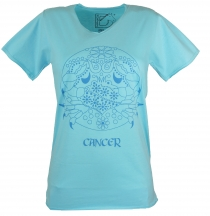 Zodiac sign T-shirt `Cancer` - turquoise