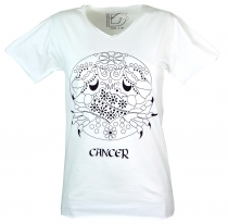 Zodiac sign T-shirt `Cancer` - white