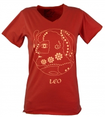 star sign t-shirt `lion` - orange