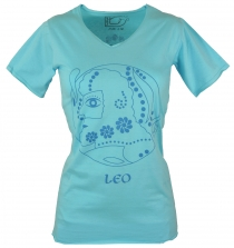 star sign T-Shirt `Leo` - turquoise