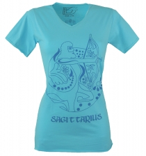 star sign T-Shirt `Sagittarius` - turquoise