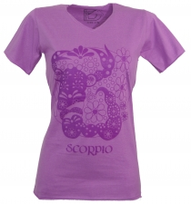 star sign T-Shirt `Scorpion` - purple