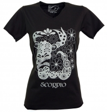 star sign T-Shirt `Scorpion` - black