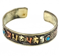 Tibetan Bangle, Ethno Bangle Om mani padme hum - Model 4
