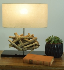 Table Lamp/Table Lamp Leon, handmade in Bali from natural materia..