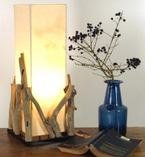 Table Lamp/Table Lamp Lesotho, handmade in Bali from natural mate..