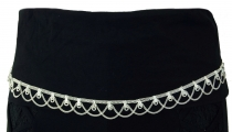 white metal belly chain, belly dance jewellery