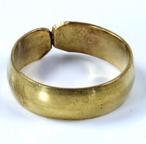 Brass toe ring, goa jewellery gold - Model 3