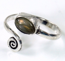 Brass toe ring, Goa foot jewellery, Indian toe ring - silver/labr..