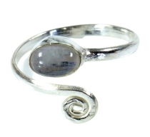 Brass toe ring, Goa foot jewellery, Indian toe ring - silver/moon..