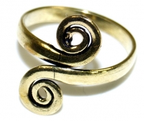 Brass toe ring, Goaschmuck gold - Model 1