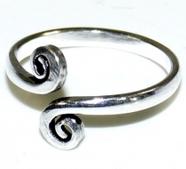 Brass toe ring, goa jewellery silver - Model 5